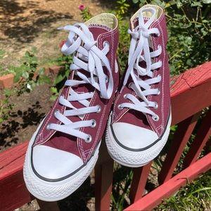 Converse-High Top (Maroon)